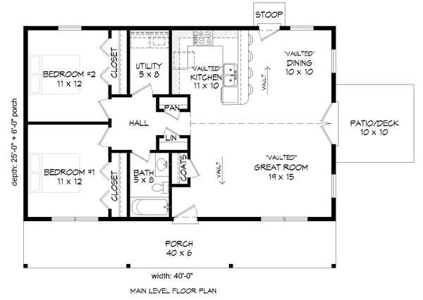 Dream House Plan - Country Floor Plan - Main Floor Plan #932-200