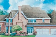 Home Plan - European Exterior - Rear Elevation Plan #20-1121