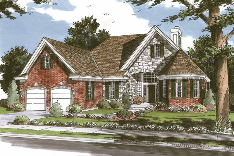 Country Exterior - Front Elevation Plan #46-666