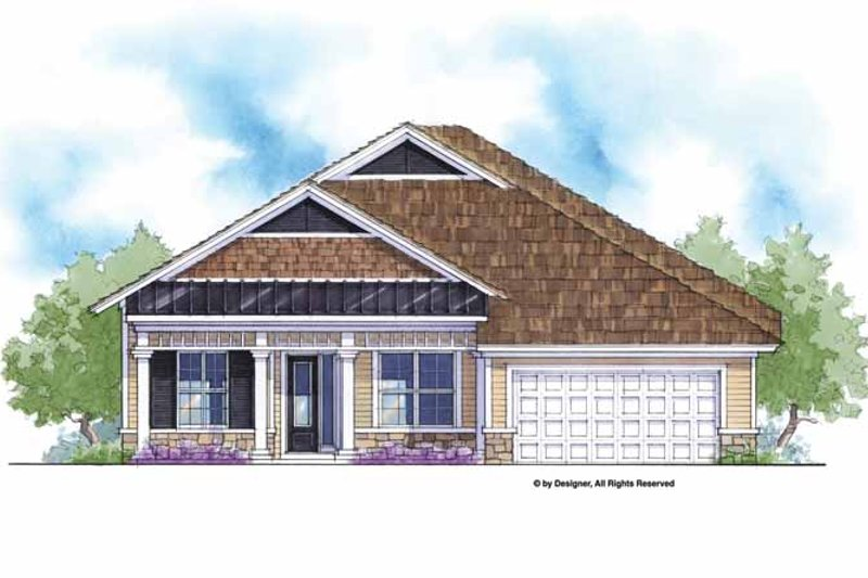 Country Exterior - Front Elevation Plan #938-53