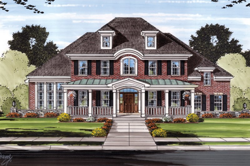 Colonial Exterior - Front Elevation Plan #46-831 - Houseplans.com