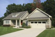 Craftsman Style House Plan - 2 Beds 2.5 Baths 1528 Sq/Ft Plan #928-132 Exterior - Front Elevation