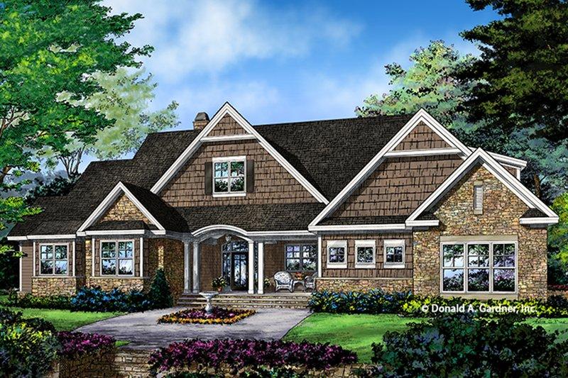 Architectural House Design - Craftsman Exterior - Front Elevation Plan #929-997
