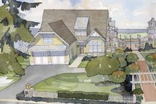 Colonial Exterior - Front Elevation Plan #928-74