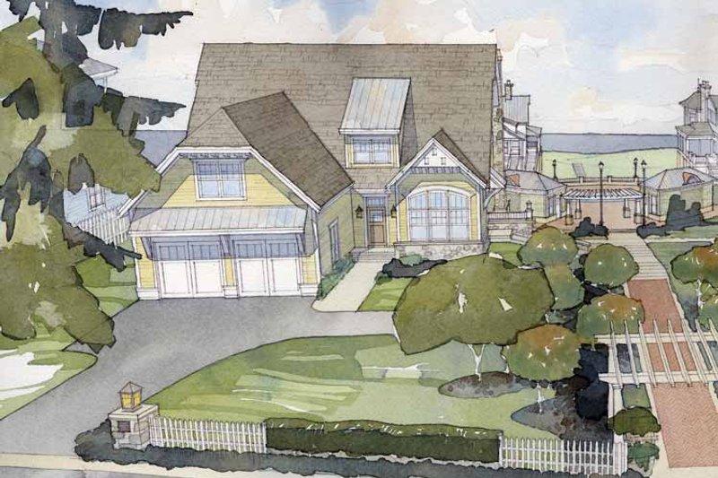 Colonial Exterior - Front Elevation Plan #928-74 - Houseplans.com