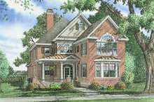 Colonial Exterior - Front Elevation Plan #929-856