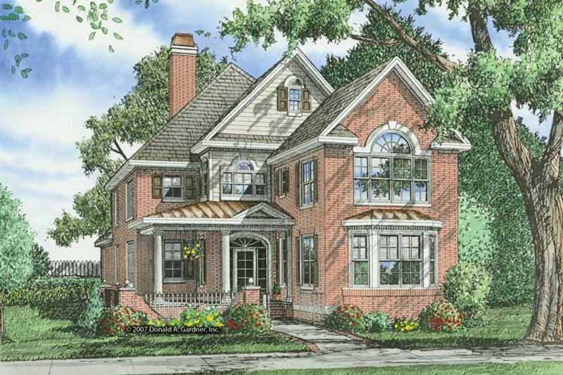 Architectural House Design - Colonial Exterior - Front Elevation Plan #929-856