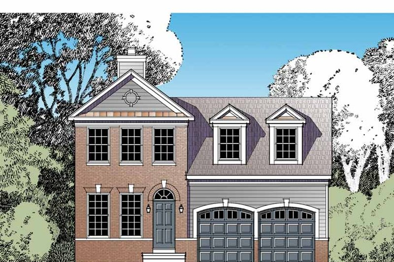 Traditional Exterior - Front Elevation Plan #1029-58 - Houseplans.com