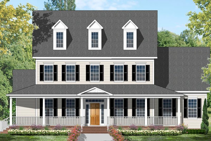 House Design - Colonial Exterior - Front Elevation Plan #1053-56