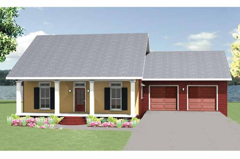 Country Exterior - Front Elevation Plan #44-219 - Houseplans.com