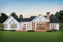 Farmhouse Exterior - Rear Elevation Plan #48-983