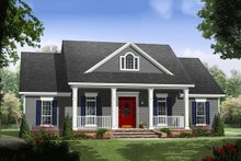 Dream House Plan - Colonial Exterior - Front Elevation Plan #21-338