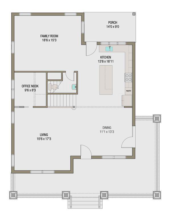 Craftsman Style House Plan - 5 Beds 3.5 Baths 2632 Sq/Ft Plan #461-45 Floor Plan - Other Floor Plan
