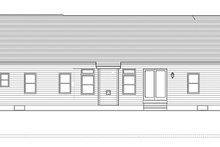 Ranch Exterior - Rear Elevation Plan #1010-139