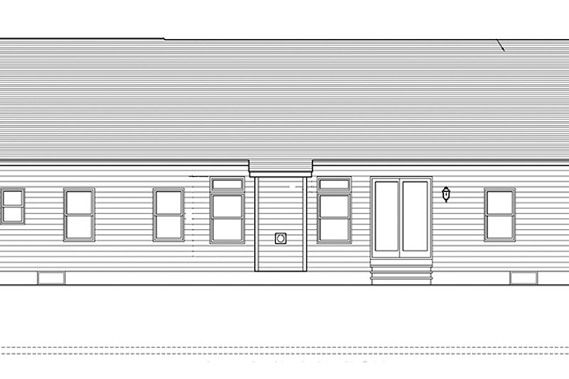 Ranch Exterior - Rear Elevation Plan #1010-139 - Houseplans.com