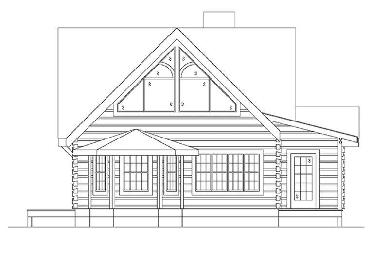Log Exterior - Other Elevation Plan #17-3133 - Houseplans.com