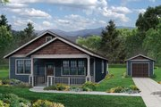 Cottage Style House Plan - 3 Beds 2 Baths 1275 Sq/Ft Plan #124-978
