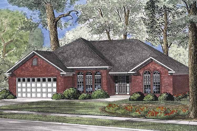 Traditional Exterior - Front Elevation Plan #17-2897 - Houseplans.com