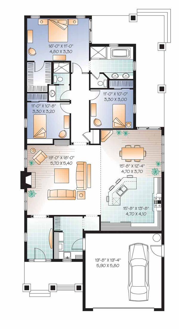 Traditional Floor Plan - Main Floor Plan Plan #23-2532