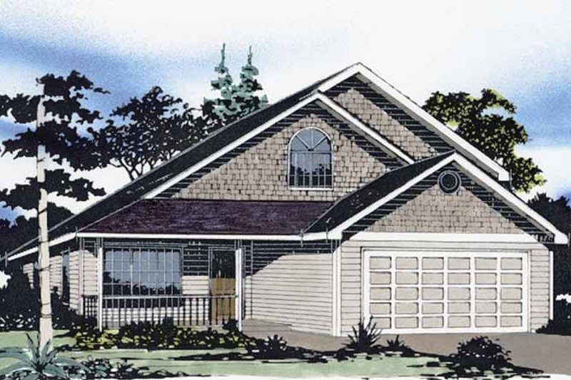 Traditional Exterior - Front Elevation Plan #509-180