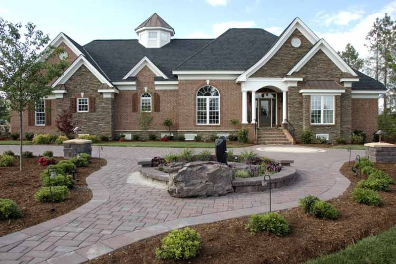 Country Exterior - Front Elevation Plan #952-78 - Houseplans.com