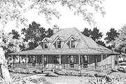Farmhouse Style House Plan - 4 Beds 2.5 Baths 2817 Sq/Ft Plan #14-205 Exterior - Front Elevation