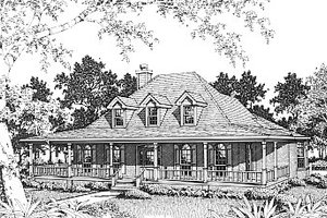 Farmhouse Exterior - Front Elevation Plan #14-205