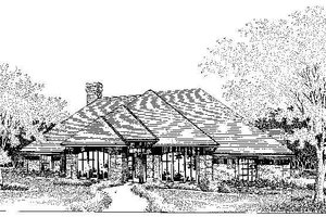 Colonial Exterior - Front Elevation Plan #310-713