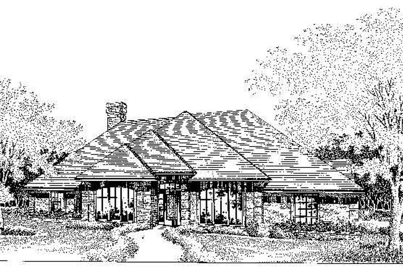 Colonial Style House Plan - 3 Beds 2.5 Baths 2353 Sq/Ft Plan #310-713 Exterior - Front Elevation