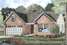 Colonial Exterior - Front Elevation Plan #17-2900
