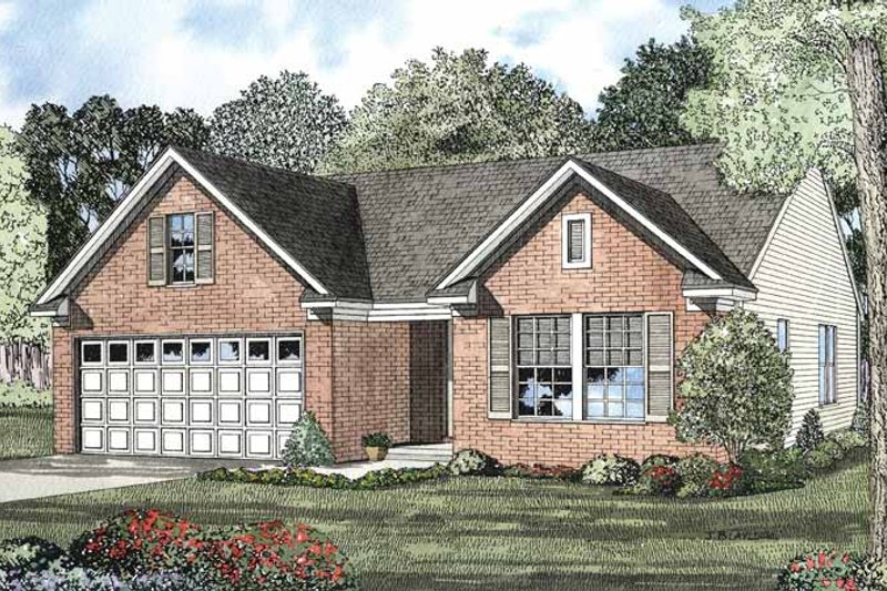 Architectural House Design - Colonial Exterior - Front Elevation Plan #17-2900