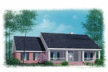 Country Exterior - Front Elevation Plan #15-314
