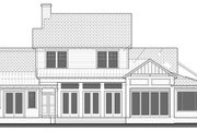 Country Style House Plan - 4 Beds 4.5 Baths 3708 Sq/Ft Plan #1058-80 Exterior - Rear Elevation