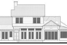 Country Exterior - Rear Elevation Plan #1058-80