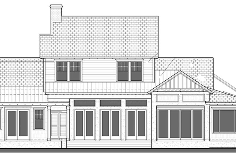 Country Exterior - Rear Elevation Plan #1058-80 - Houseplans.com