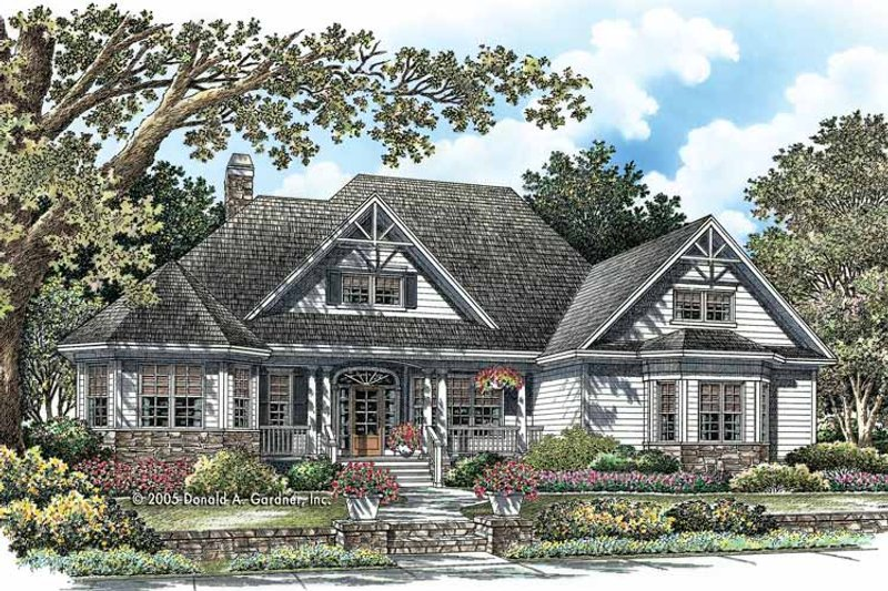 Country Exterior - Front Elevation Plan #929-756 - Houseplans.com