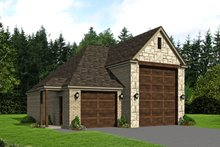 Country Exterior - Front Elevation Plan #932-265