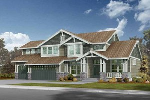 Dream House Plan - Craftsman Exterior - Front Elevation Plan #132-234