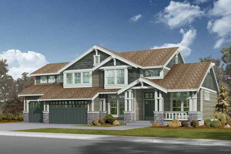 Craftsman Exterior - Front Elevation Plan #132-234