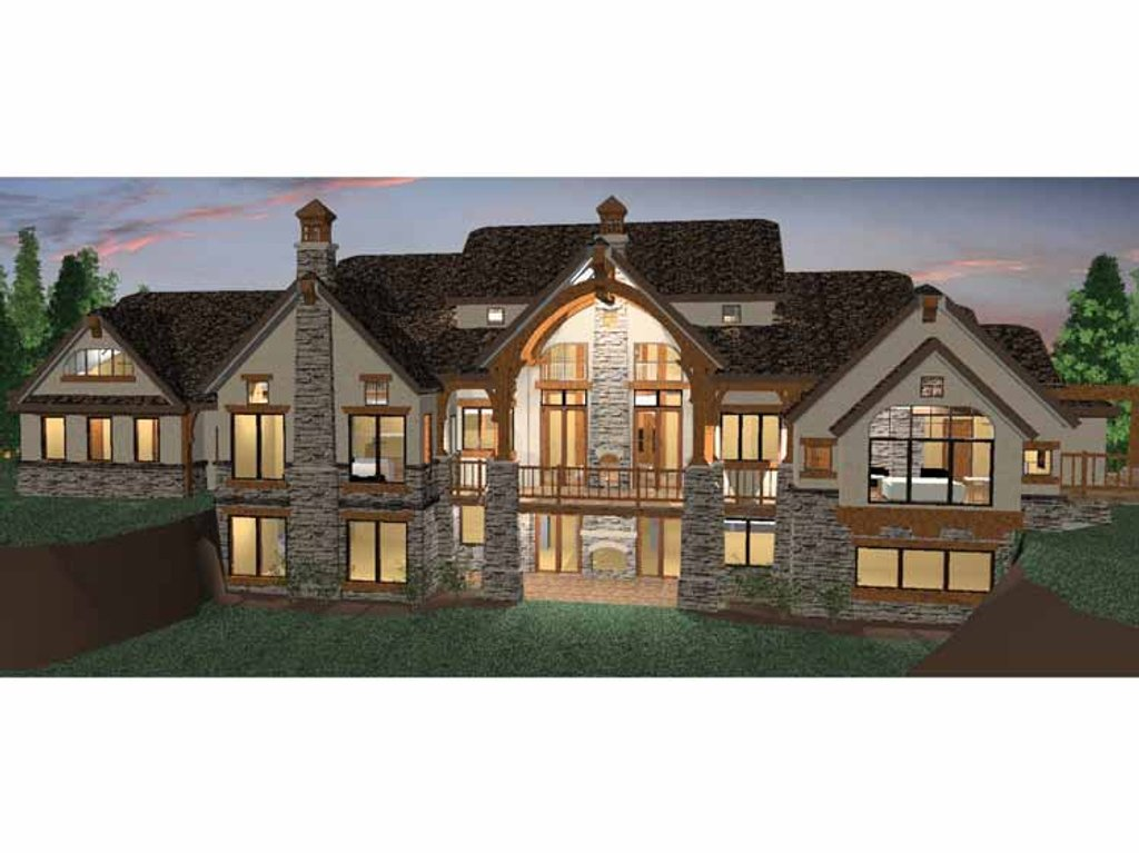 Craftsman Style House Plan - 6 Beds 4.5 Baths 5155 Sq/Ft