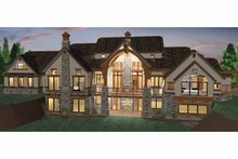 Craftsman Exterior - Rear Elevation Plan #937-20