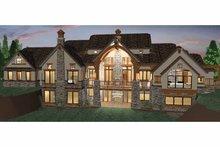 Architectural House Design - Craftsman Exterior - Rear Elevation Plan #937-20