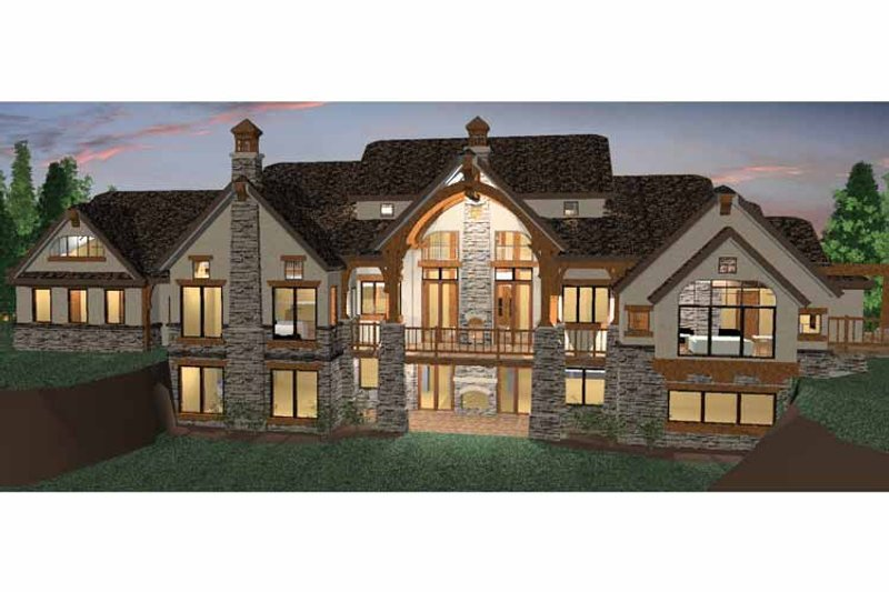 Craftsman Exterior - Rear Elevation Plan #937-20 - Houseplans.com