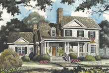 House Plan Design - Country Exterior - Front Elevation Plan #429-429