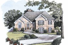 House Plan Design - Traditional Exterior - Front Elevation Plan #429-108