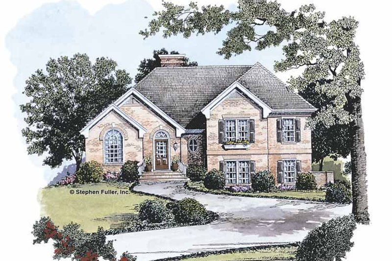 Traditional Exterior - Front Elevation Plan #429-108 - Houseplans.com