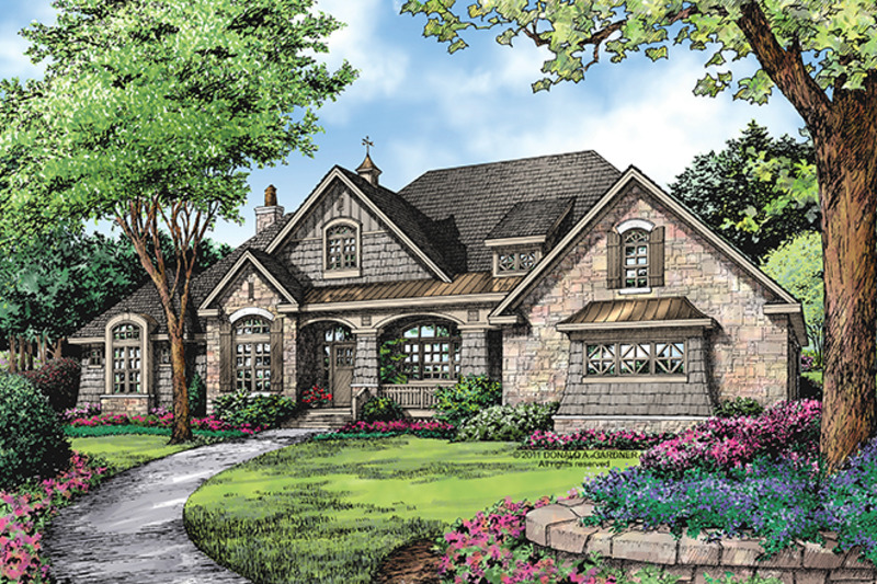 European Exterior - Front Elevation Plan #929-939 - Houseplans.com