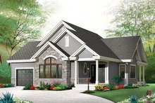 Architectural House Design - Country Exterior - Front Elevation Plan #23-2574
