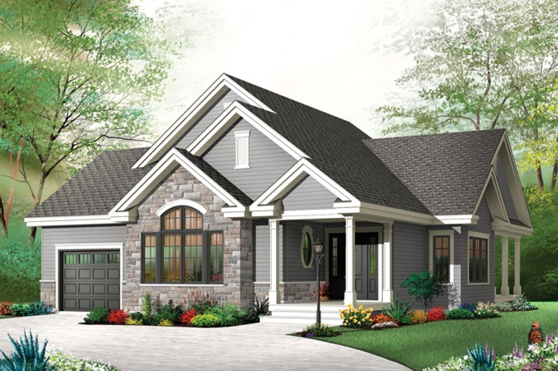 Country Exterior - Front Elevation Plan #23-2574