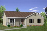 Ranch Style House Plan - 3 Beds 2 Baths 1200 Sq/Ft Plan #116-242 Exterior - Front Elevation